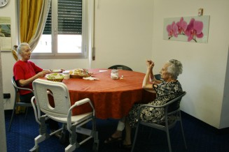 gioco, anziani, tavola anziani