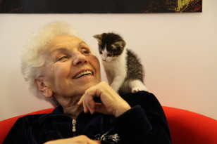 anziana, anziana felice, anziana benessere